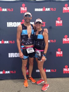 Dr. Lauren & her husband, Matt, after Ironman Racine 70.3, July 2015